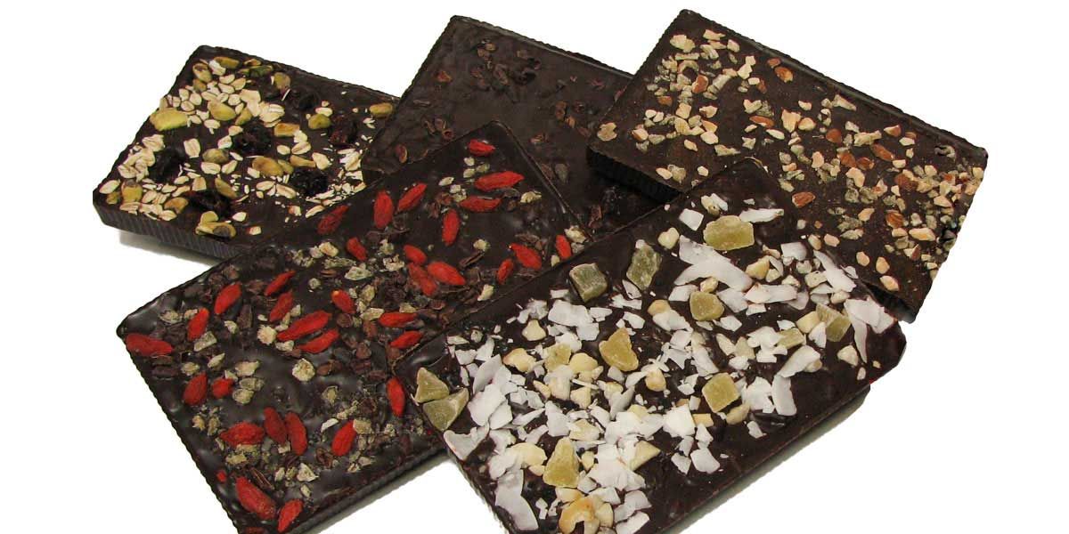 almond, cherry, spicy bark bars