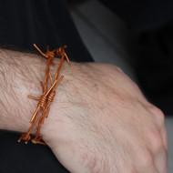Faux Barbed Wire Leather Wrap Bracelet