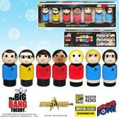 Pin Mates Big Bang Theory Star Trek TOS The Big Bang Theory Cast 7-Pack 03464