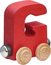 Name Train - Bright Color Childrens Wooden Trains Letter G