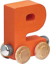 Name Train - Bright Color Childrens Wooden Trains Letter P
