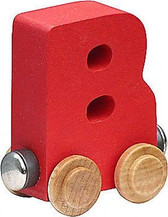 Name Train - Bright Color Childrens Wooden Trains Letter B