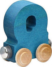 Name Train - Bright Color Childrens Wooden Trains Letter Q