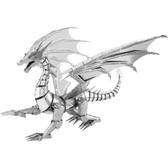 Metal Earth ICONX Silver Dragon 3D Metal  Model + Tweezer 13238