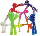Mini Qman 1 Flexible Translucent Magnetic Man Assorted Colors