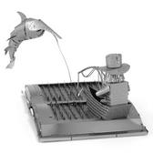Metal Earth Old Man and the Sea 3D Metal Model + Tweezer 11173