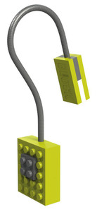Block Light Clip on Reading Light Aurora Green 53018