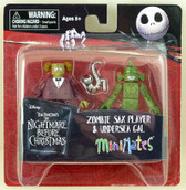NBX Minimates Zombie Sax Player & Undersea Gal figures Diamond 26010