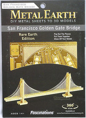 Metal Earth Golden Gate Bridge Rare Ver 3D Metal  Model + Tweezer  013016