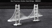 Metal Earth San Francisco Golden Gate Bridge 3D Metal  Model + Tweezers 010015