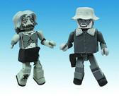 The Walking Dead Minimates Winter Coat Dale & Female Zombie Halloween 101063