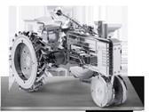 Metal Earth John Deer Farm Tractor 3D Metal  Model + Tweezer  010527