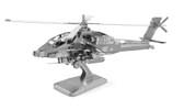 Metal Earth AH-64 Apache 3D Metal  Model + Tweezer  010831