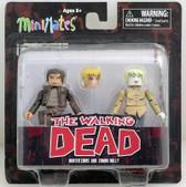 The Walking Dead Minimates s7 Hunter Chris & Zombie Holly figure Diamond 104972