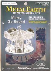 Metal Earth Merry Go Round 3D Metal  Model + Tweezers  10893