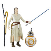 Star Wars EP7 The Black Series 02 Rey (Jakku) and BB-8 figure Hasbro 60116