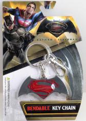 Batman vs. Superman: Dawn of Justice Logo Bendable Key Chain NJ Croce 39603
