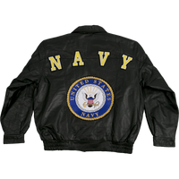 Jackets - Leather - Navy