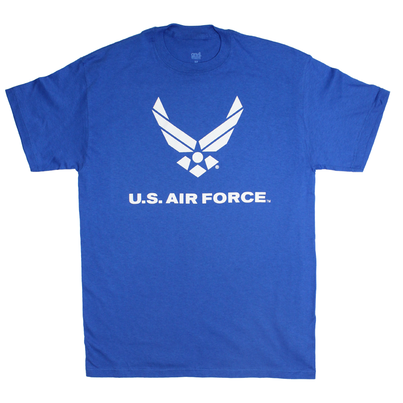 Made In The Usa 1 Color Front Logo T Shirt Air Force