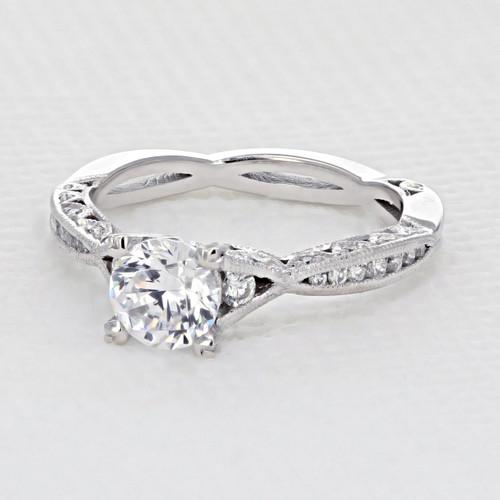 Tacori Classic Crescent Engagement Ring (2645RD61/2W)