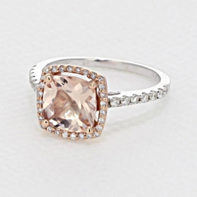 Rose Gold Morganite Engagement Ring (R916-4)