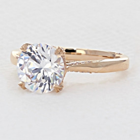 Tacori RoyalT Rose Gold Engagement Ring (HT2625RD85PK)