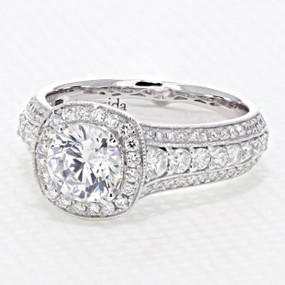 Halo Pave Engagement Ring (AV34)
