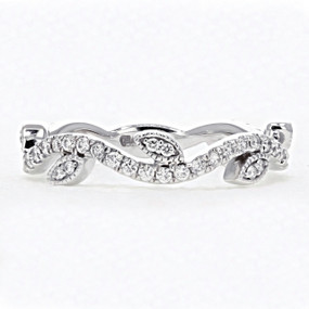 Micro Prong Vine Diamond Wedding Band (FG51)