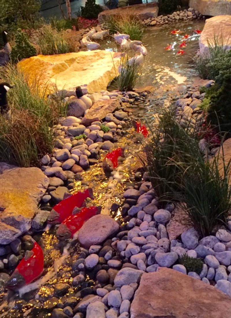 Sockeye Salmon Garden Art (sold individually)
