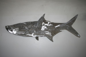 "36"" Stainless Steel Tarpon Metal sculpture for walls"