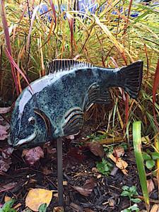 Medium Ceramic Koi, Garden art, Garden Sculpture