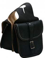 Roughout Leather Horn Bag