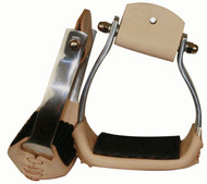 Showman Lightweight Angled Aluminum Stirrups With Wide Rubber Grip Tread