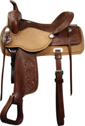 """16"""", 17""""  Double T Pleasure Style Saddle with Full QH Bars"""