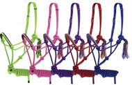 Showman ® Cowboy Knot Rope Halter with 7' Lead
