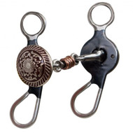 """Showman ® 5"""" Blued Steel Concho Bit with Ringed Dogbone Mouth"""