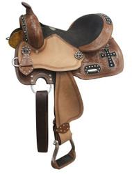 """10"""", 12"""" Double T youth barrel style saddle."""