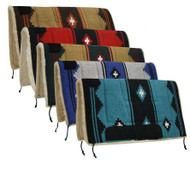 """Showman™ 32"""" x 32"""" deluxe southwest pad with Kodel fleece and suede wear leathers."""