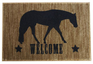 """27"""" x 18"""" Welcome mat with pleasure horse."""