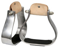 Showman™  wide aluminum stirrup with rubber grip tread.