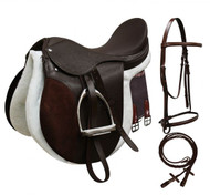 "14"" 15"" 16"" 17"" 18"" All Purpose English Saddle Set"