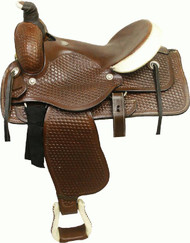 Circle 'S' Basket Tooled Roping Saddle