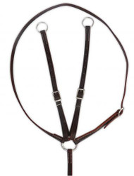 Showman ® Argentina cow leather running martingale.