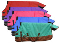 """PONY/YEARLING 48""""-54"""" Waterproof and Breathable Showman™ 1200 Denier Turnout Blanket."""