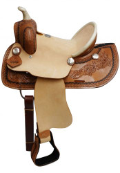 "12"" Double T  Youth roper style saddle with hard seat."