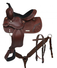 "10"" Double T  Youth/pony saddle set."
