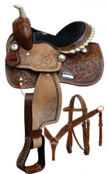 "10"" Double T  Pony saddle set."