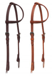 Showman ® Argentina cow leather one ear headstall with stainless steel hardware