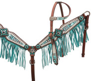 "Showman ® "" Arctic Aztec"" Headstall and breast collar set."