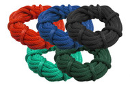 "Showman ® 5/8"" x 50ft derby nylon rope."